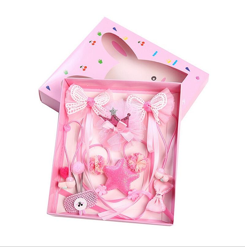 12Pcs Hairpin Baby Girl Hair Clip Bow Flower Lace Mini Barrettes Star Kids Infant Cute Headwear New Princess 2018
