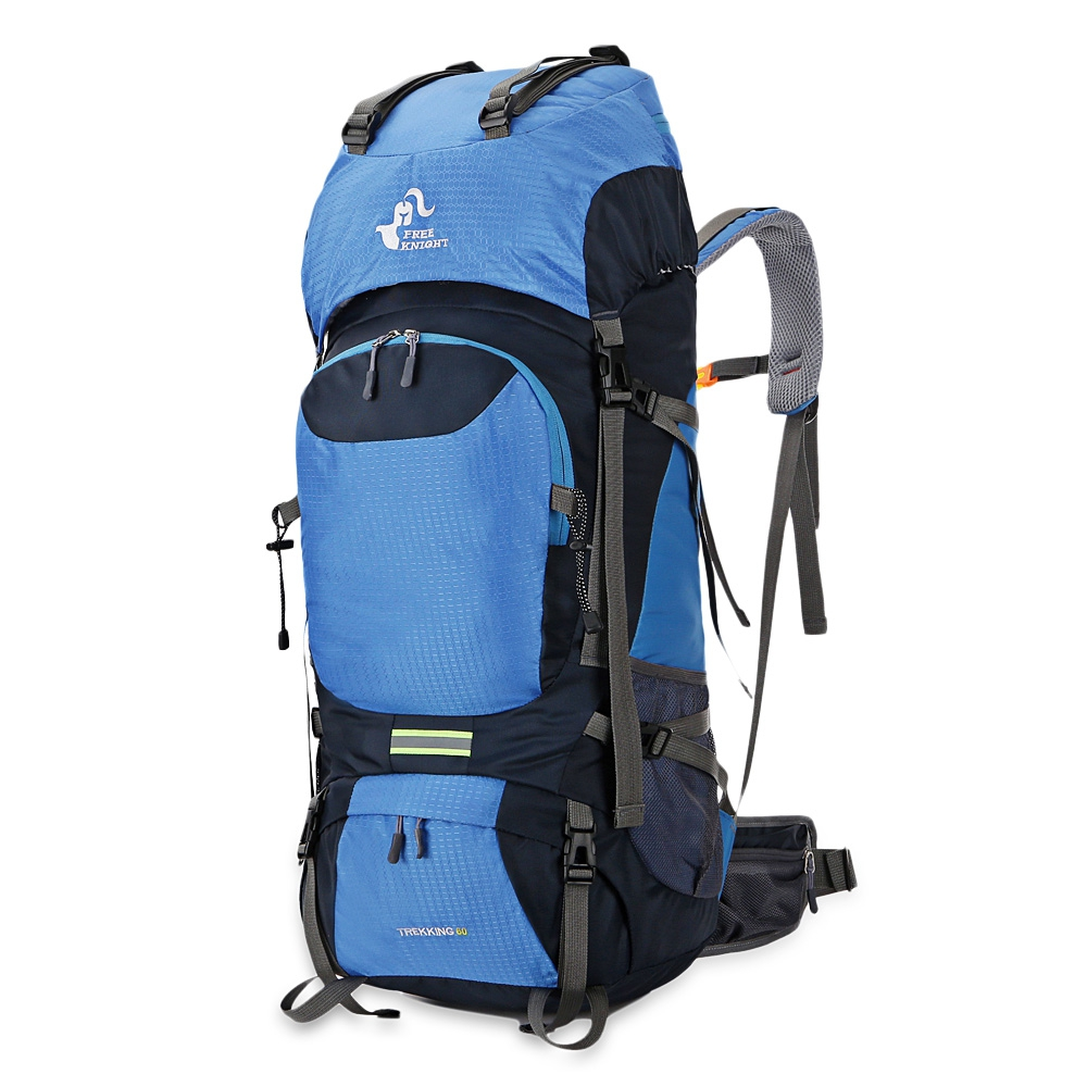 60L Hiking Backpack Daypack For Men And Women Nylon Waterproof Camping Traveling Backpack Outdoor Climbing Sports Bag<br>