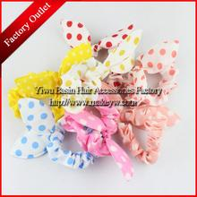YWHUANSEN 10pcs/lot Wholesale Light color rabbit ear hair bands Cute hair accessories for girls and women Nice ties SPIN292