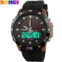 SKMEI 2016 New china Brand Men fashion Sport Watches analog Digital LED solar- power Wristwatches rubber band relogio masculino(China)