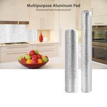 Multipurpose Aluminum Foil Self-adhesive Stickers Anti-oil Waterproof Pad Cabinet Moisture-proof Mat Kitchen Bathroom Accessory