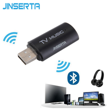 JINSERTA 2017 Brand New Wireless Audio Bluetooth Transmitter Music Stereo Dongle Adapter For TV Smart PC MP3 Headphone