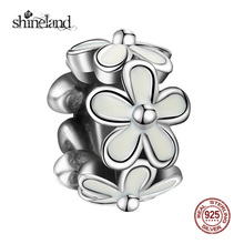 Buy Shineland Delicate Enamel Daisy Spacer Bead Charm Women Jewelry Making Fashion 925 Silver Flower Charm Fit Bracelet Necklace for $5.02 in AliExpress store