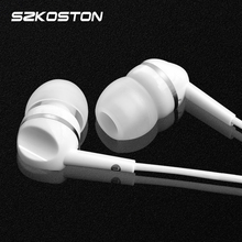 Super clear earphones 3.5MM in ear earphone With Microphone supports music super clear for Xiaomi Samsung iPhone all phone mp3(China)