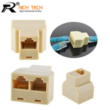 Cable network RJ45(8-core)one point two connectors extend the interface adapter splitter network links 20pcs/lot