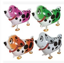 10pcs/lot wholesale Colorful  walking pet balloons, Dalmatians cute dog helium balloons 59X41cm foil balloon as birthday gift