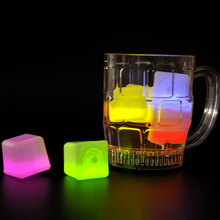 New 1 PCS Colorful Changing LED Night Light ice cube Glowing Ice Cube,lighted Ice Led Wholesale For decoration mariage