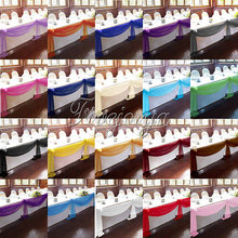 5Pcs/Lot 5M*1.4M Top Table Organza Swag Sheer Organza Fabric DIY Material Wedding Party Banquet Table Top Stair Decor
