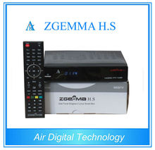 20 pcs/lot ZGEMMA H.S HD satellite tv receiver DVB S DVB S2 satellite tv box with iptv Enigma2 Linux OS