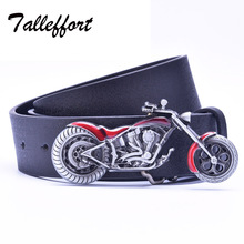 Motorcycle buckle PU leather belt big buckle man belts new style fashion great leather belts 4847(China)