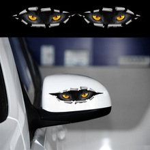 Car-Styling Cat Eyes Peep Sticker Car Truck Motorcycle Window Door Stickers on Cars Black Panther Dangerous For Clio Captur Mega