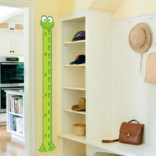 cute interesting cartoon Frog Green baby children height measure wall stickers kids room decoration child play room growth chart(China)