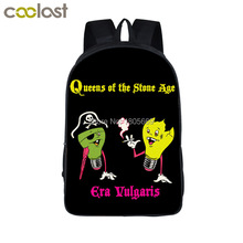Stoner Metal Rock Band Kyuss / QUEENS OF THE STONE AGE Backpack For Teenage Children School Bags Punk Men Women Laptop Backpack