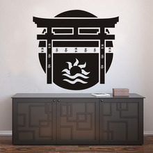 DCTOP Torii Japanese Gate Wall Sticker Vinyl Decal Japanese Culture Home Adhesive Art Wall Murals Bedroom Decor Accessories