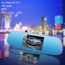 car DVR dual camera video recorder FM car rearview mirror GPS navigator 3in1 FOR Andrews WiFi 1080P HD dual camera auto camera