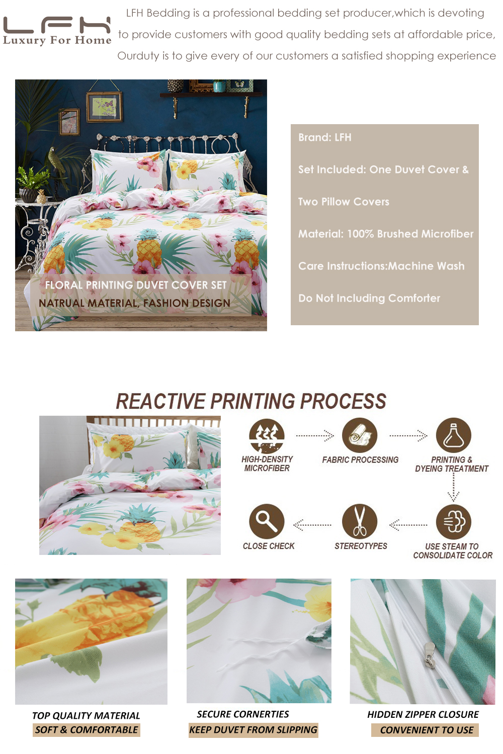 pineapple bedding set (6)