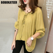 Buy BOBOKATEER Plus Size Long Sleeve Chiffon Blouse Women Clothing Casual Ladies Shirt Womens Tops Blouses Blusas Spring 2018 for $11.11 in AliExpress store