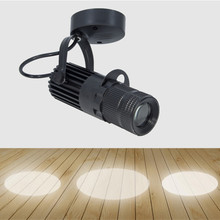 Indoor 3W/5W/7W/10W/15W/20W LED COB Ceiling Light Fixture Spotlight Picture Focus Lamp Adjustable Aperture Teahouse Black Shell(China)