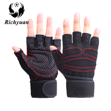 Body Building Gym Gloves Fitness Body Building Weight Lifting Gloves Men Women Custom Exercise Protect Wrist Training Gym Gloves(China)