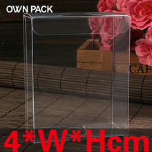 10 pcs/lot 4*W*Hcm pvc box / package box / display and cases / packing / clear transparent / cupcake cake macaron boxes