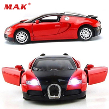 1:36 Scale Model Car Bugatti Veyron Diecast Car Model With Sound&Light Collection Car Toys Vehicle Gift For Children(China)