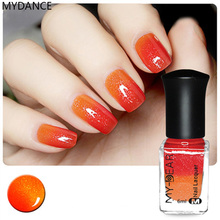MYDANCE 1 Bottle Nail Polish Fashion Noble Non-Toxic Color Changing Thermal Peel Off Varnish Beaut(China)
