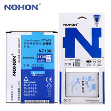 Original NOHON Lithium Battery Bateria For Samsung Galaxy Note 2 Note2 N7100 N719 N7102 EB595675LU 3100mAh Replacement Batterie(China)