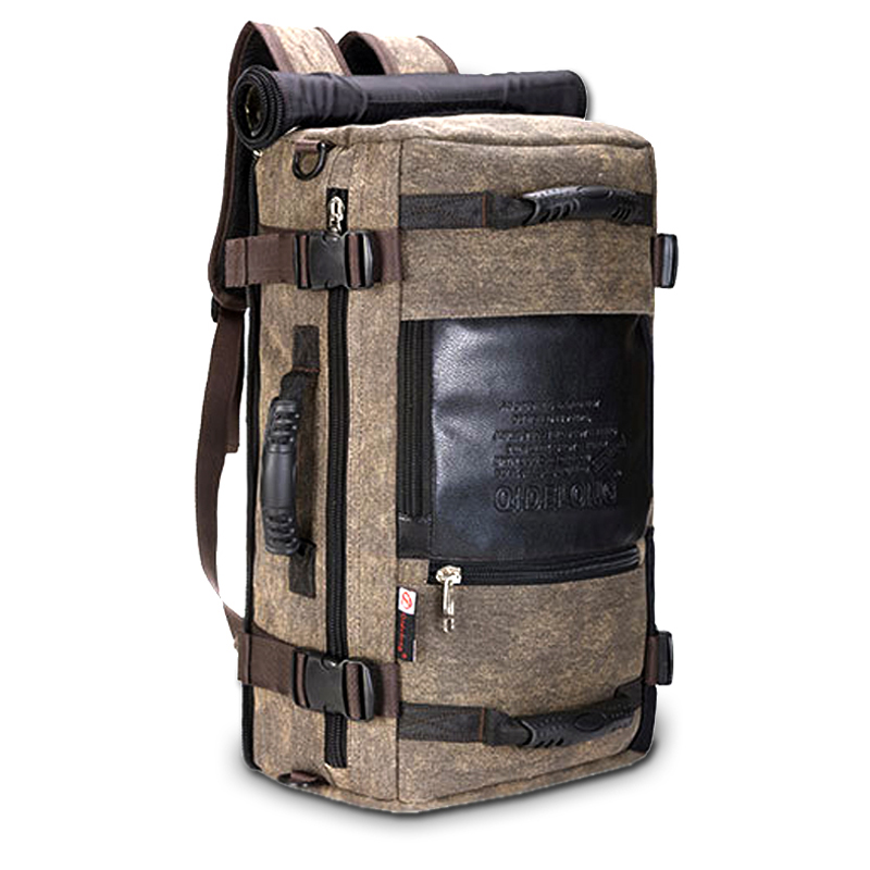 Men backpack Canvas Travel Bag Shoulder Bag notebook loptap Backpack Men Functional Versatile Bags Multifunctional Travel Bag<br>