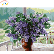 Diy oil painting paint by numbers picture on canvas coloring drawing by number hand painted picture craft lavender E017