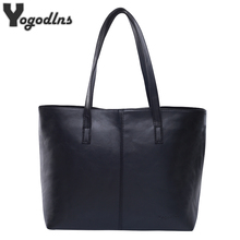 All Match Fashion Leather Handbag Simple Style Shoulder Bags for Women Gray /Black Large Capacity Casual Tote Bags High Quality(China)