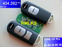 RMLKS Car Smart Remote Key Fit For 2 3 5 6 M2 M3 M5 M6 Demio Axela Premacy Atenza Model Number SKE13E-01 With MAZ24R Blade