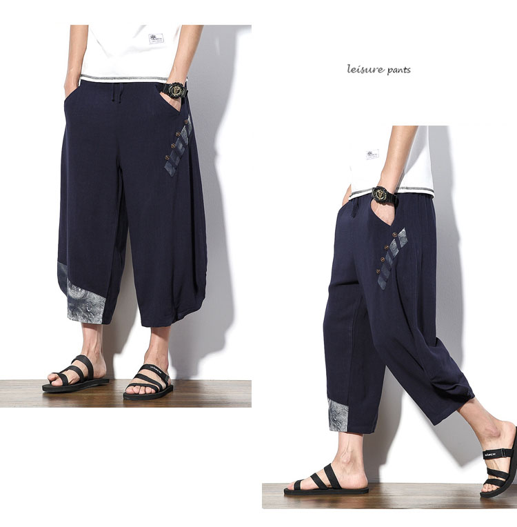 Aolamegs Mens Casual Pants Cotton Linen Loose Large Ankle-length Pants 2017 Summer Chinese Style Male Japan Harajuku Cross-pants (8)