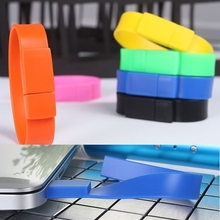 Hotsale USB Flash Drive 16GB 32GB 64GB Bracelet Wrist Band 2.0 Flash Memory Pen Drive 512GB USB Stick 128GB 256GB Pendrives Gift
