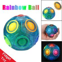 Luminous Stress Reliever Magic Rainbow plastic balls Fun Cube Fidget Puzzle Education Toy For Kids & Adults stres topu #XTT(China)