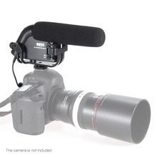 BY-VW190P Directional Interview Video Microphone MIC for Canon Nikon Sony DSLR Cameras Camcorders DV Audio Recorder