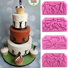 Sports ball series Football Rugby Golf Baseball cooking tools fondant baking Cake Sugar chcolate Silicone Craft candy