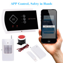 Wireless GSM SMS Autodial Home Burglar Alarm Security System Two-way Intercom ANDROID IOS APP Phone Control(China)