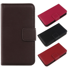 LINGWUZHE Genuine Leather Case Wallet Design Cell Phone Holster Luxury Flip Cover For Kazam Trooper 552(China)