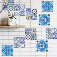 20pcs DIY Mosaic Wall Tiles Stickers Waist Line Wall Sticker Kitchen Adhesive Bathroom Toilet Waterproof PVC Wallpaper(China)