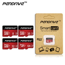 Wholesale 4G Micro SD Card mini sd card 8GB 16GB 32GB 64GB 128GB Class 10 Memory Card Flash Memory for cell Phones Tablet Camera(China)