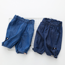 Baby cowboy pants five summer 2017 Korean version of the new female kids children bow pants kz-a250
