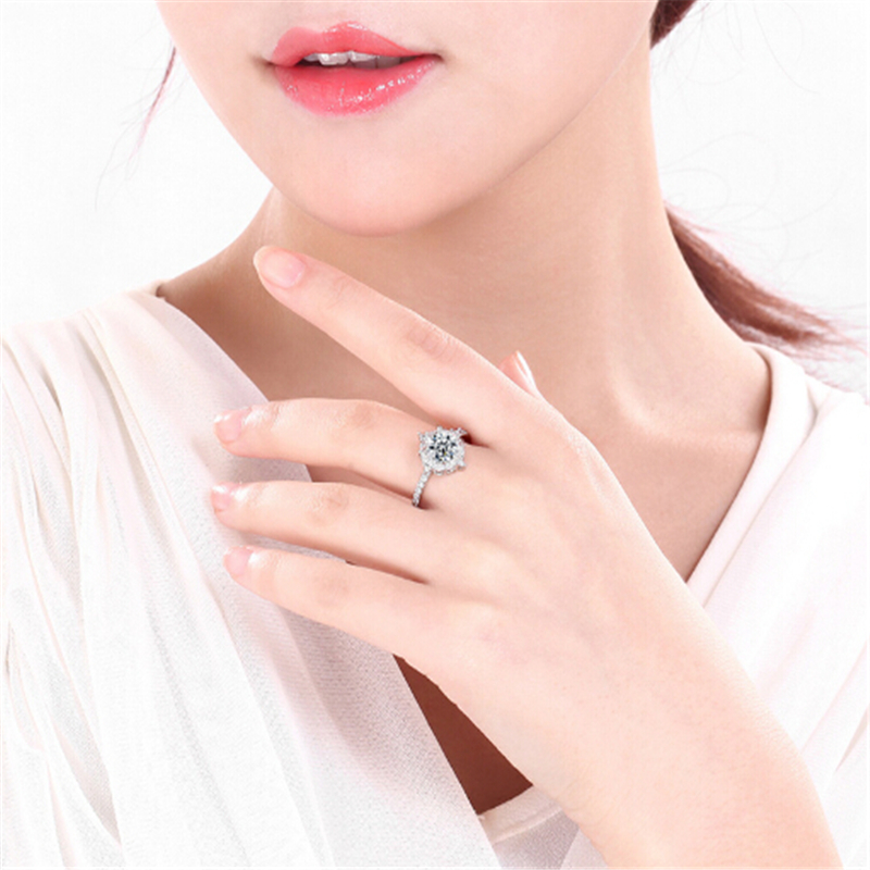 Limited edition Wedding ring Special moment for her Best gift Simple Top quality Silver Ring Engagement anel feminino 9