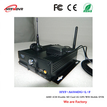 4 channel video recorder dual SD card 4G GPS WiFi mdvr monitor host Korean language mobile dvr