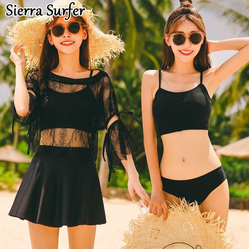 Retro Bikini Set Top Mujer Vrouwen Beachwear Vintage Womens Swimsuit Girls 2018 New Sexy Skirt Four Piece Suit 8062 Bademode<br>