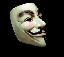 1 Piece New V for Vendetta Mask Halloween party mask Anonymous Guy Fawkes Fancy Dress Adult Costume Accessory Free Shipping