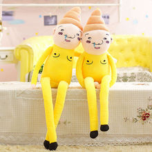 Free shipping New arrival 110cm shit plush dolls lucky stars yellow poop super man novel funny joking plush toy birthday Gift