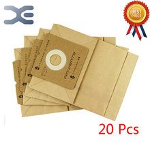 20Pcs High Quality Adaptation Electrolux Vacuum Cleaner Accessories Dust Bag Paper Bag ZW1100-101 / 1100-102(China)