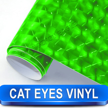 Professional Vinyl Cat Eye Foil Wrap Eyes Sticker Car 30 Meter with Available Colors
