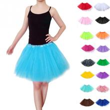 Midi Long Tulle Skirt American Style Tutu Skirts Baby Girls Petticoat with 3 layers tulle tutu toddler girl chiffon pettiskrit