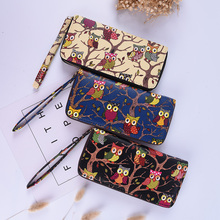 Arrival Cute Owl Stereoscopic Printing Long Women Wallet Ladies' Clutches Short Change Purses Card Holders(China)